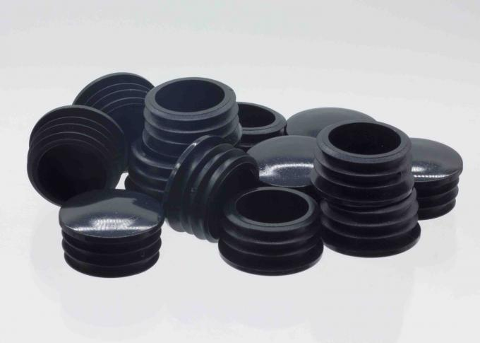 KR-P0378 PP Round Plastic Pipe Plugs Steel Furniture Tube Use Cover Insert Black