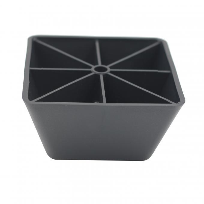 Kr P0405 Black Square Furniture Feet