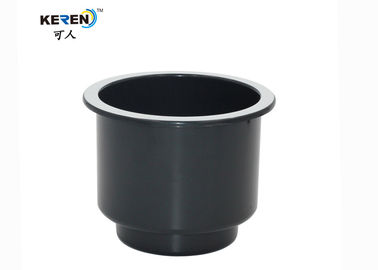 China KR-S006 Black Recessed Cup Holder For Marine Boat With Chrome Lip Eco Friendly factory