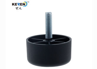 "China KR-P0393 1"" Embossed Plastic Sofa Feet Replacement Cylindrical HDPE Material factory"