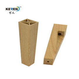 KR-P0296W1 Light Yellow Replacement Sofa Feet Irregular Oblique High Corrosion Resistance