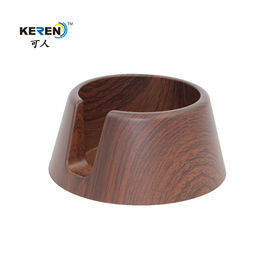 KR-P0280 Modern Recessed Cup Holder , Anti Spill Drink Recessed Drink Holder Wood Grain