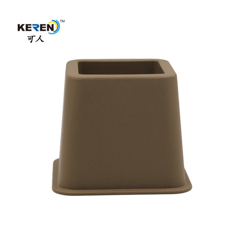 KR-P0258K Plastic Brown 3 Inch Bed Risers , Adjustable Bed Frame Risers High Stability supplier