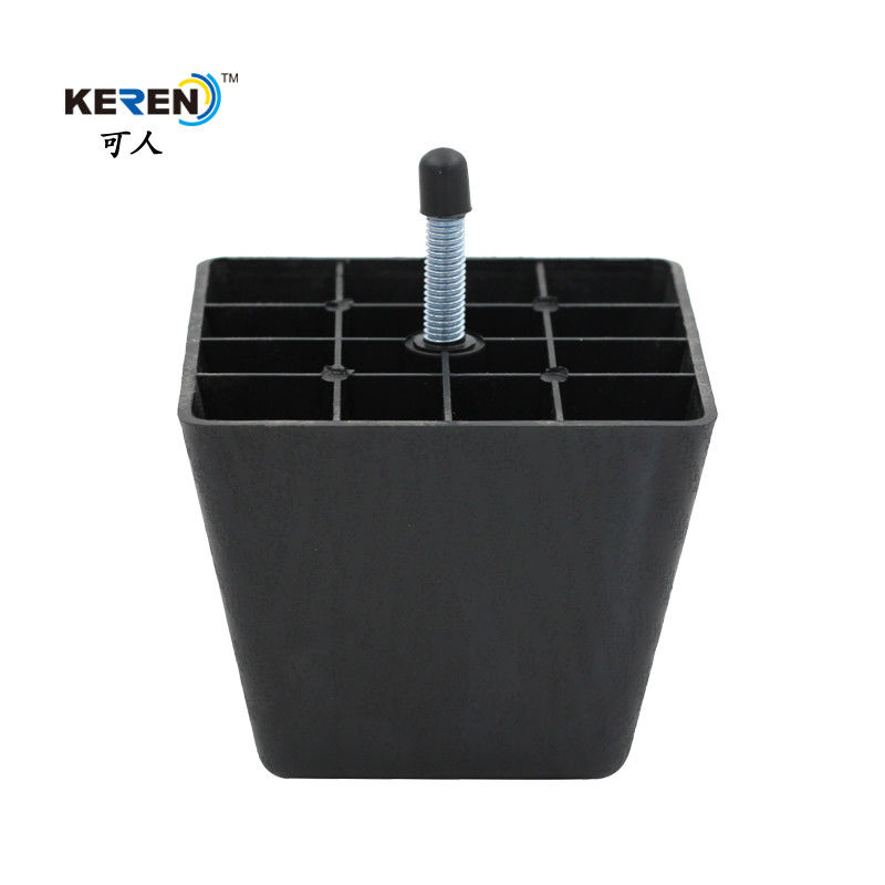 Solid Black Plastic Adjustable Cabinet Feet M8 Screw Furniture Feet Scratch Protection supplier