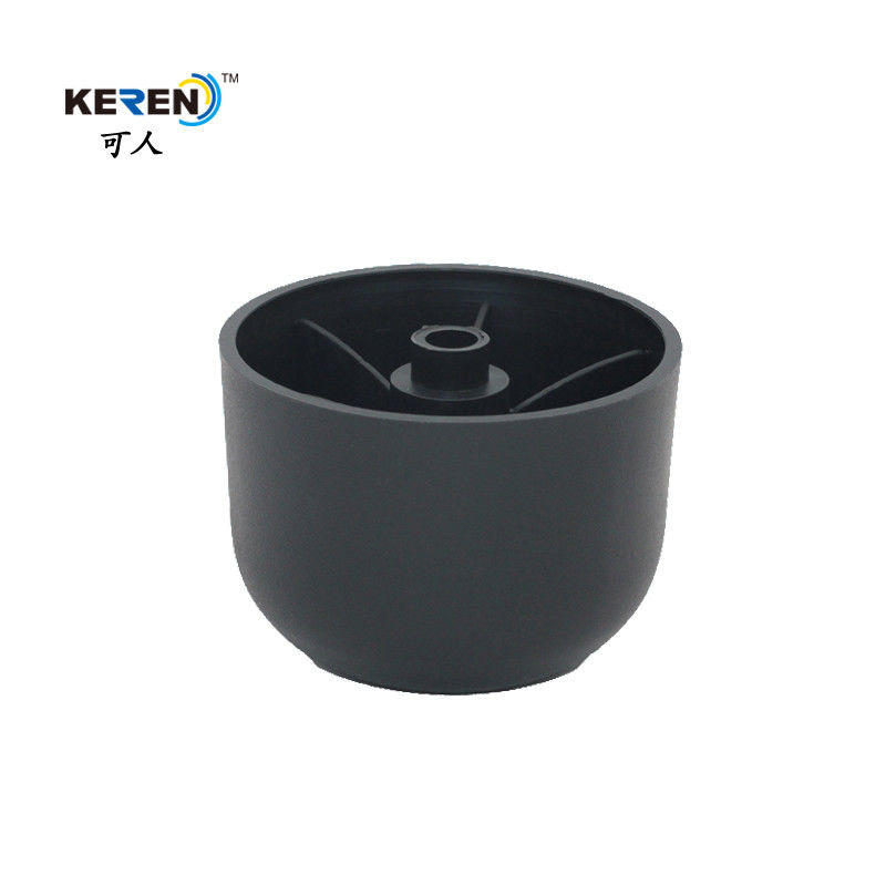 160mm Matt Black Plastic Furniture Feet , Unbreakable Sofa Bed Risers supplier